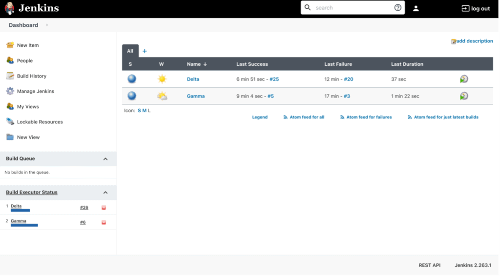 Jenkins dashboards can show multiple projects in one view