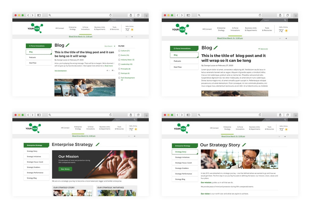 Sitecore Intranet Redesign & Implementation