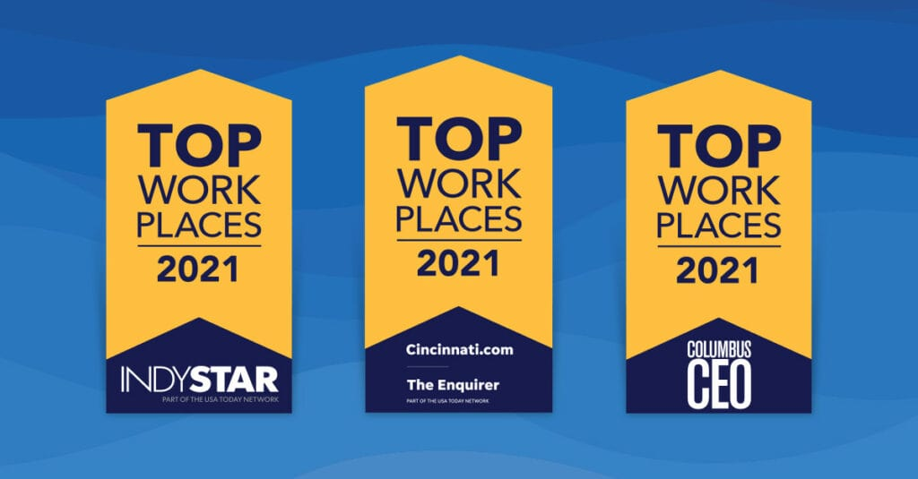 Fusion Alliance is a best workplace for Indianapolis, Cincinnati, and Columbus for 2021!